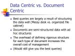 data centric vs document centric13