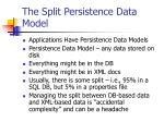 the split persistence data model