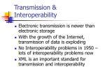 transmission interoperability