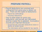 prepare payroll38