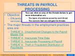 threats in payroll processing