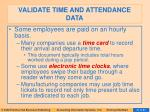 validate time and attendance data27