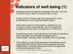 indicators of well being 1