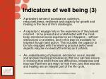 indicators of well being 3