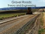 gravel roads theory and engineering