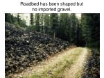 roadbed has been shaped but no imported gravel