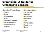 organizing a guide for grassroots leaders20