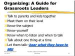organizing a guide for grassroots leaders31