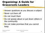 organizing a guide for grassroots leaders34