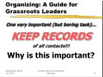 organizing a guide for grassroots leaders37