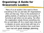 organizing a guide for grassroots leaders51