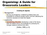 organizing a guide for grassroots leaders9
