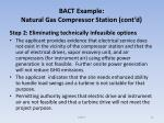 bact example natural gas compressor station cont d70