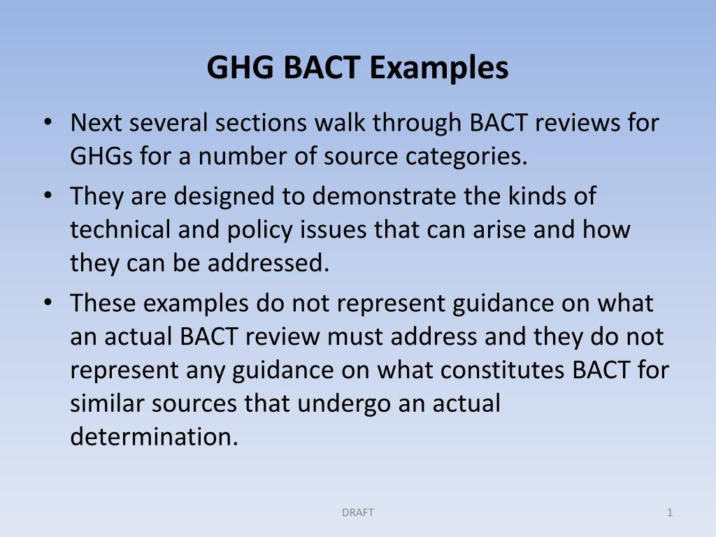 ghg bact examples l.