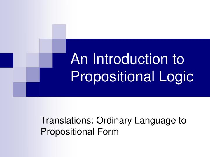 an introduction to propositional logic n.