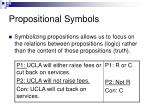 propositional symbols