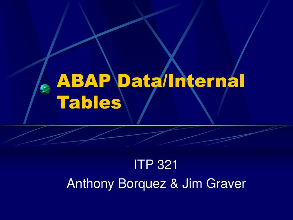 abap data internal tables l.