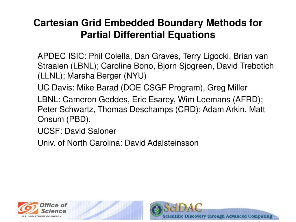 cartesian grid embedded boundary methods for partial differential equations l.