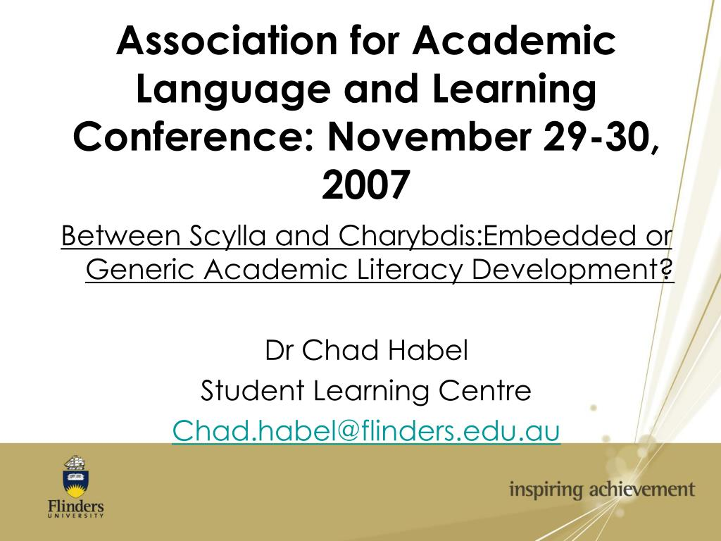 association for academic language and learning conference november 29 30 2007 l.