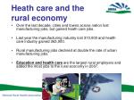 heath care and the rural economy