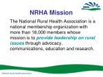 nrha mission