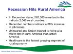 recession hits rural america
