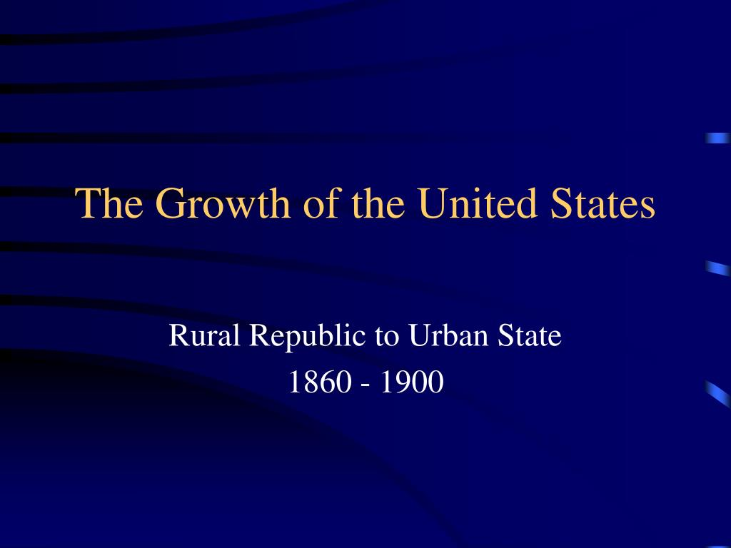 the growth of the united states l.