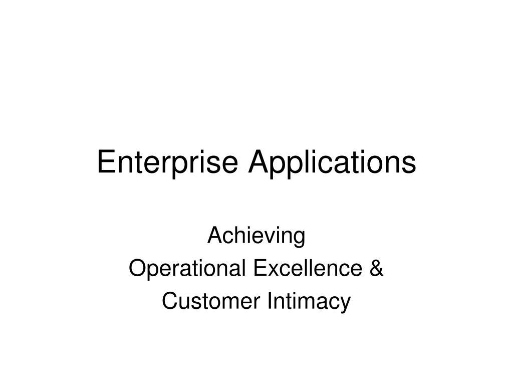 enterprise applications l.