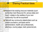 sharing practical ideas