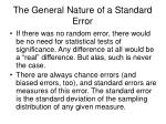the general nature of a standard error