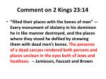 comment on 2 kings 23 14