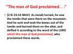 the man of god proclaimed