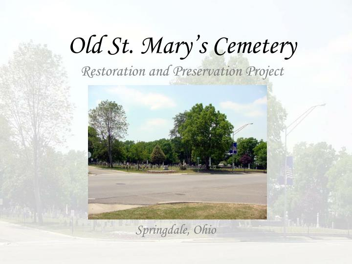 Old st mary s cemetery