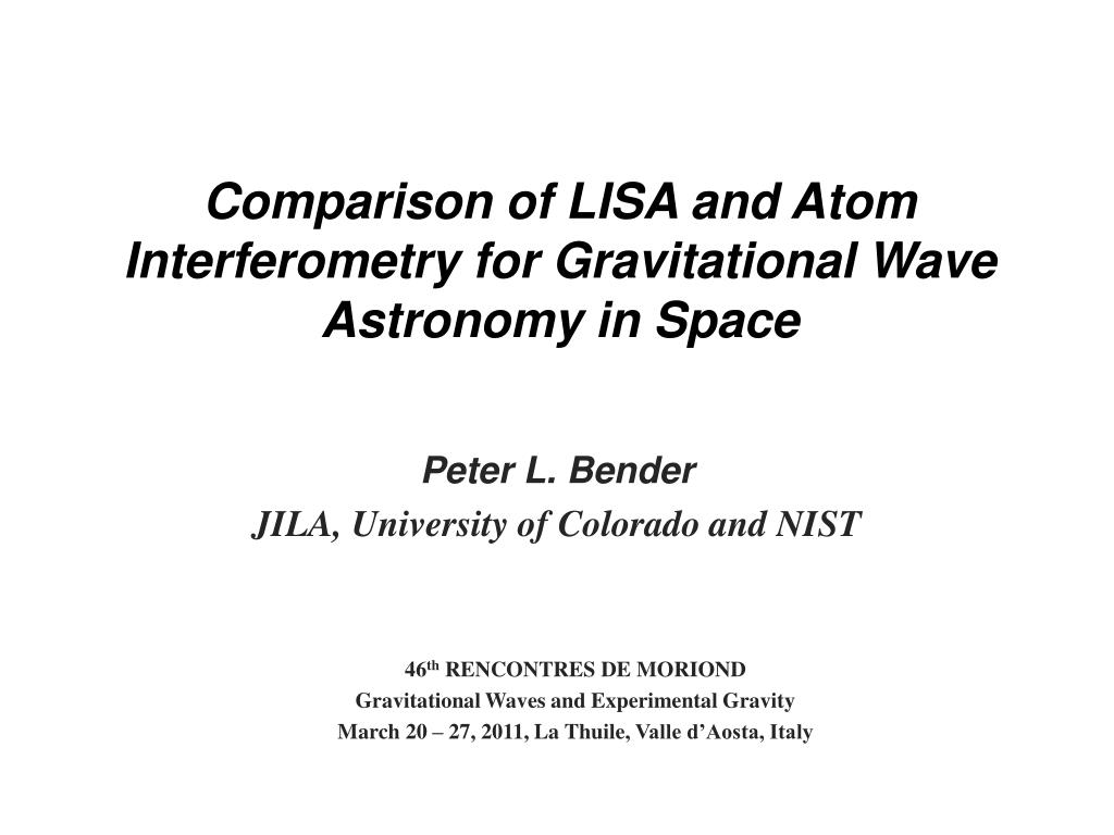 comparison of lisa and atom interferometry for gravitational wave astronomy in space l.