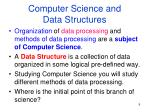 computer science and data structures