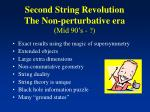second string revolution the non perturbative era mid 90 s