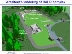 architect s rendering of hall d complex