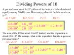 dividing powers of 10