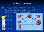 h he c burning