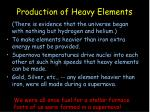 production of heavy elements