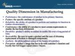 quality dimension in manufacturing