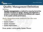 quality management definition