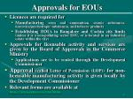approvals for eous3