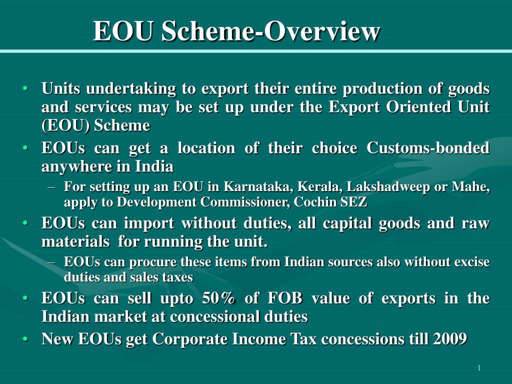 eou scheme overview l.