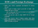 eous and foreign exchange