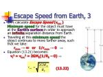 escape speed from earth 3