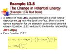 example 13 8 the change in potential energy example 13 6 text book