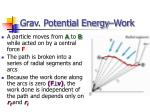 grav potential energy work