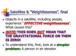 satellites weightlessness final