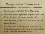 management of thionamides